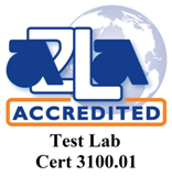A2LA Test Lab accredited